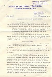 Scrisoare adresată de Corneliu Coposu lui Adrian Năstase.
