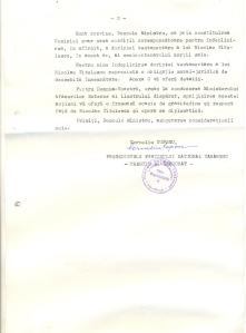 Scrisoare adresată de Corneliu Coposu lui Adrian Năstase. Verso