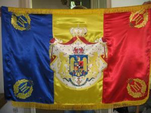 Steagul României cu stema regală
