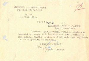 Cerere înhumare I. Mihalache (sursa: corneliu-coposu.ro)