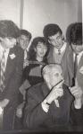 1990-octombrie. Cu org. de elevi PNŢCD de la Liceul Informatic