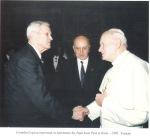 1992. Vatican. Împreună cu Papa Ion Paul al II lea