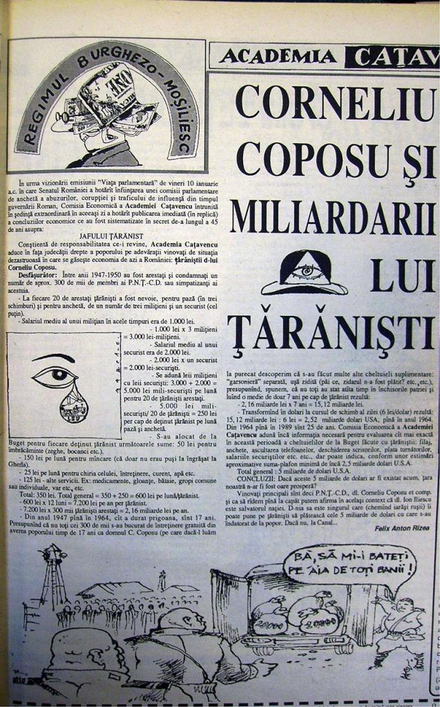 Articol satiric în Academia Caţavencu