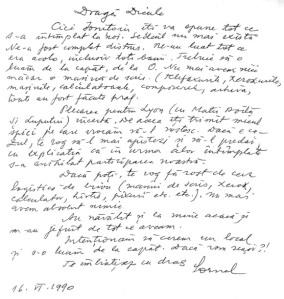Scrisoare C. Coposu catre A. Herlea - iun 1990