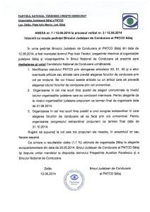 PNTCD demisie org Salaj cnc pavelescu 13-14 iunie 2014