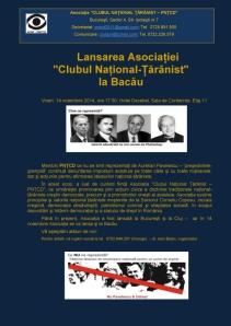 Afis lansare ACNT Bacau-color