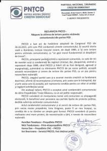 PNTCD AP declaratie congres PSD