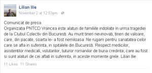 PNTCD Vrancea comunicat de presa club colectiv