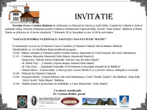 Invitaţie comemorare Iuliu Maniu 2016