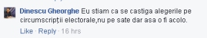 PNTCD Dinescu Gheorghe declaratie alegeri 2016
