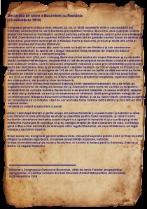 Declaratia Unirii Bucovinei cu Romania 28 noiembrie 1918